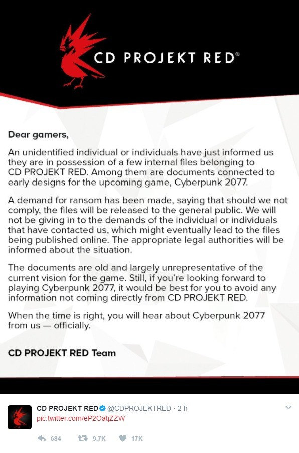 Red alert, scum inbound. CD Project RED does not negotiate with SCUM join list: VideoGameHumor (1702 subs)Mention Clicks: 608037Msgs Sent: 5985465Mention Histor