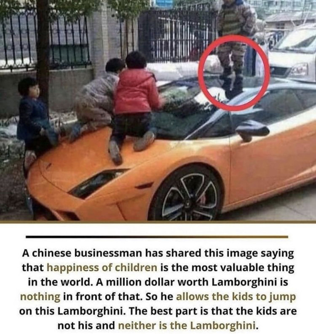 registering functional trial Mericans. .. In China, Lamborghini runs over children all the time in the wild. This is payback.