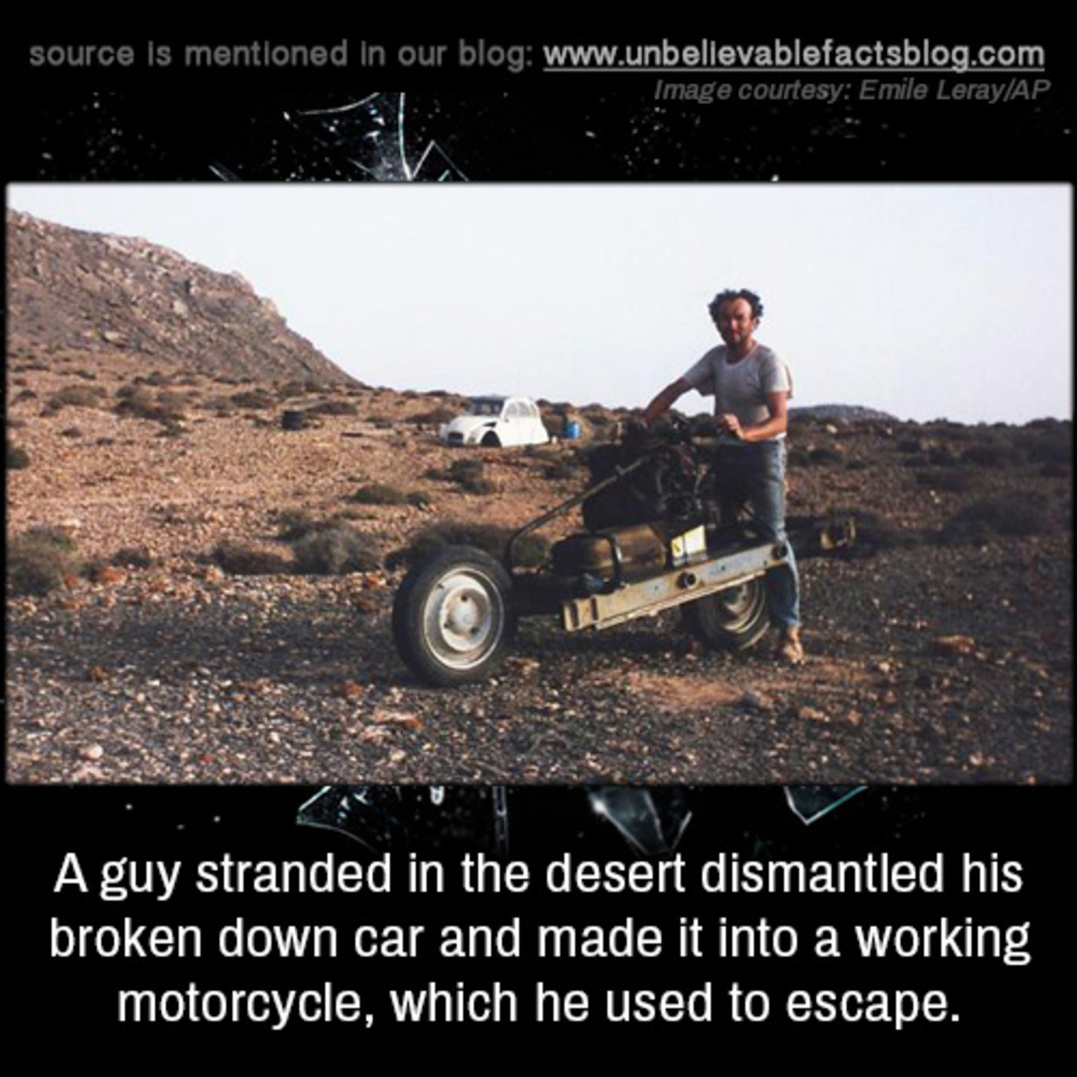 resigned Locust. .. If anyone goes looking into this let me defend a question you may have. Sure, he only had to go 20 miles; That's 20 desert miles though.
