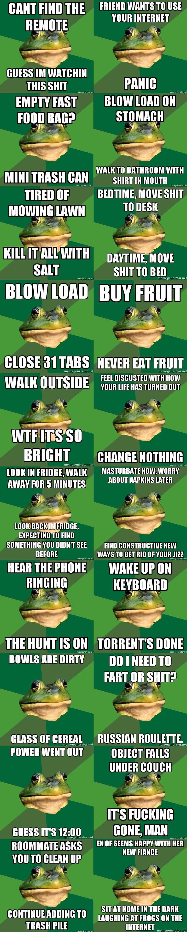 """Resurrect Foul bachelor frog. Haven't seen this guy in a looooooong time~. Flclol Tile WANTS TO USE nus sun A 'rartiy PAM: EMPTY msi"""" slow new iii"""""""""""" THAI} BAIT"""