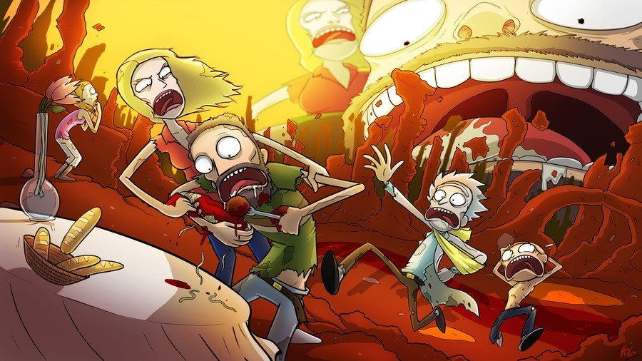 Rick amd Morty fanart. .. as hard as it is to look at R&M now, I still appreciate this fan art. Well done.