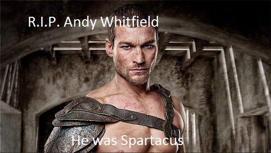 RIP Andy Whitfield. RIP Andy Whitfield he was amazing in the show.