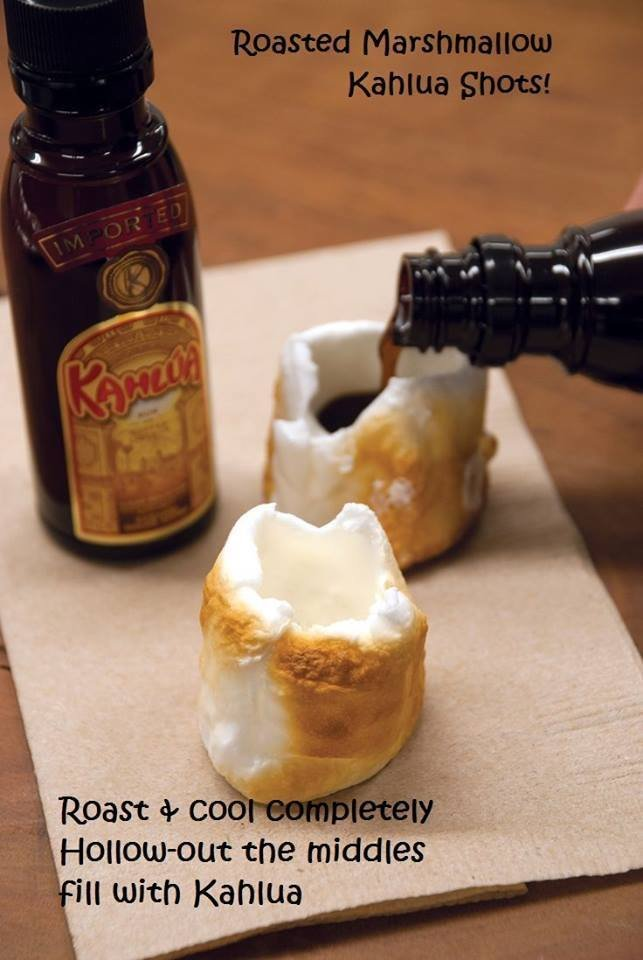 Roasted Marshmallow. . the middle . ill with Kahlua. wanna know what else you can do with marshmallows?