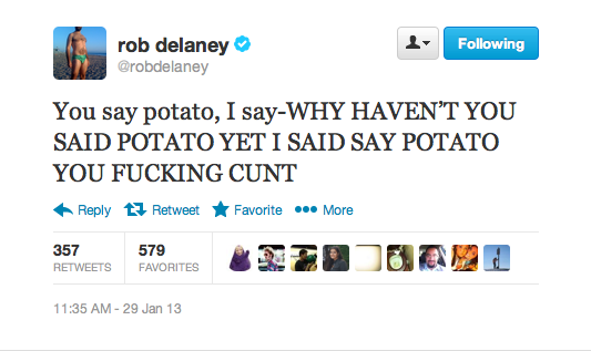 Rob Delaney. Credit to Rob Delaney (@robdelaney) on Twitter.