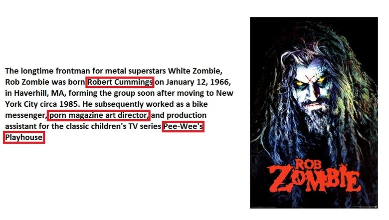 rob zombie o_O. .. just more proof that hes amzing