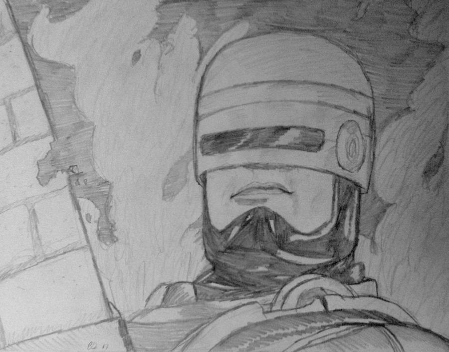 Robocop. Hey everyone. I had a sudden urge to draw Robocop last night so I did! I hope you all enjoy. If you enjoyed the video feel free to subscribe to me or m