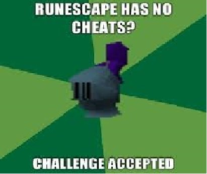 Rofl. runescape u mad?.. haha idiot runescape doesn't have cheats.