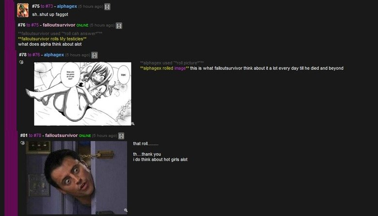 """roll them bones. Sometimes it's worth reading the comments.... F 5"""": -yea 'fa; """"this is what fallt) ) tthink. about it a lat every day till he died and beyond t"""