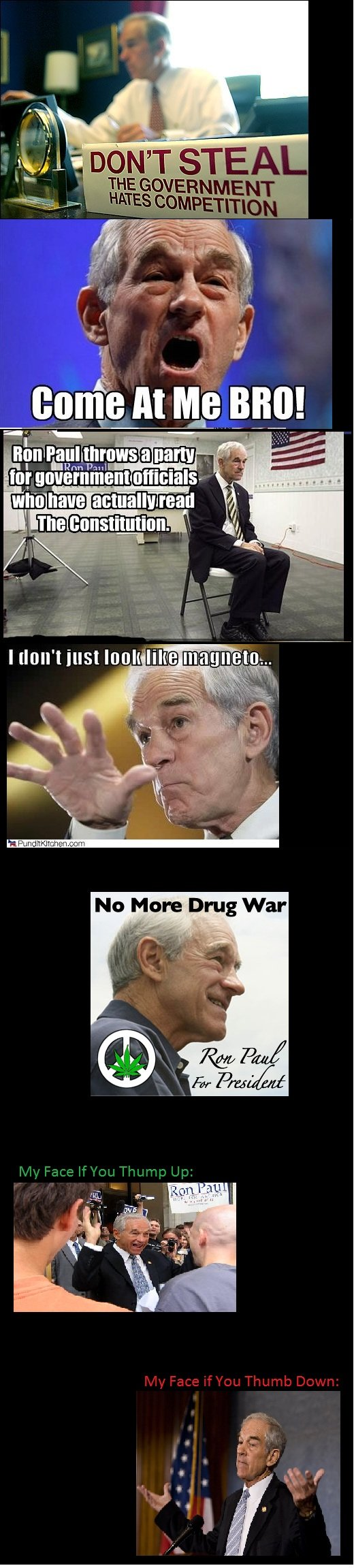 Ron Paul Comp. I realize the thumb/thump error. Sorry, guys. Anyway, Ron Paul 2012!!. lilli? mm! ree. Shun the Ron Paul haters