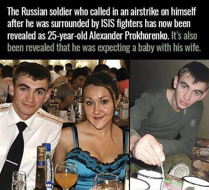 Russian Hero's Last Words. Prokhorenko : command I am compromised, I repeat I am compromised. Command: Please say again and confirm. Prokhorenko : They have spo