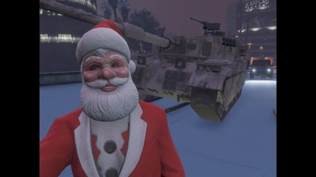 Santa gives no .. Santa's ride for Christmas in Los Santos tonight... looks like the presents this year will really blow our minds