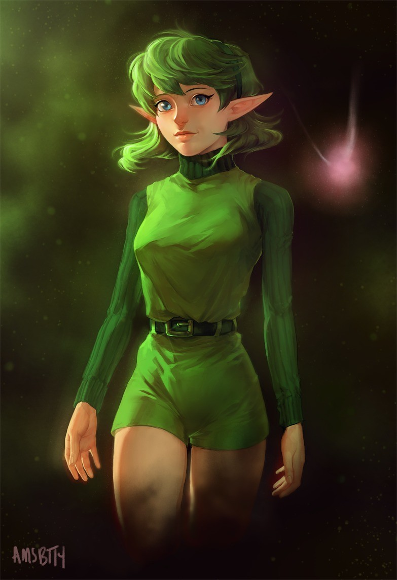 Saria. .. where the did she get those tiddies from?