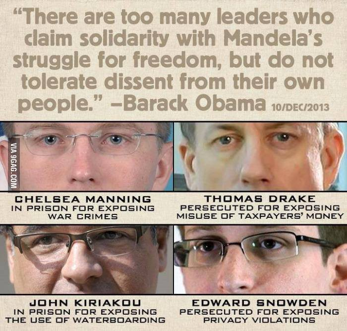 """Scumbag Obama. . There are too many leaders who claim solidarity with ' s struggle for freedom, but do not tolerate dissent from their own people"""" -Barack Obama"""