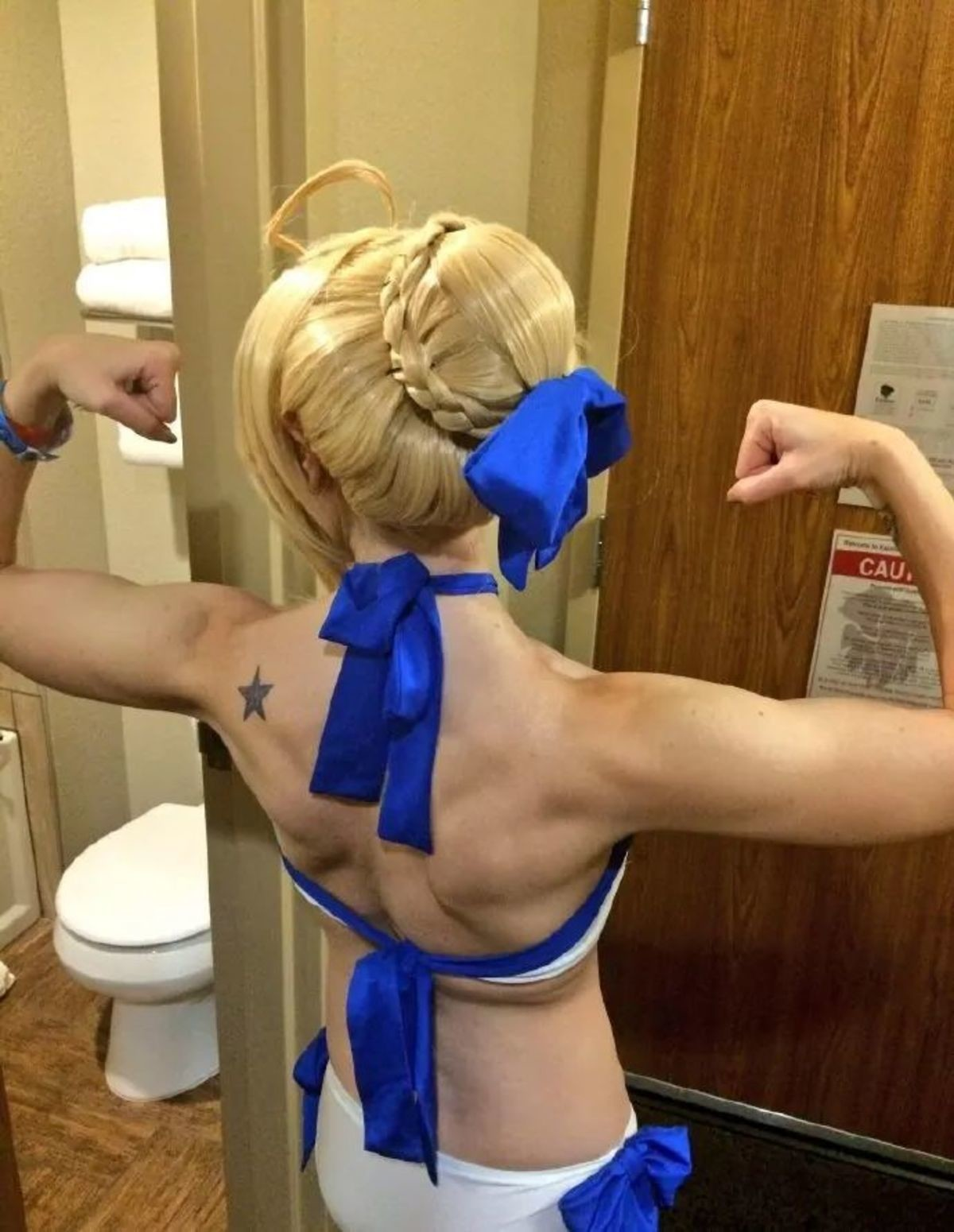Seiba Stronk. join list: SmolHol (1473 subs)Mention History join list:. Hold on. >Muscle body >Having a star on the body >On the left side >Blond hair