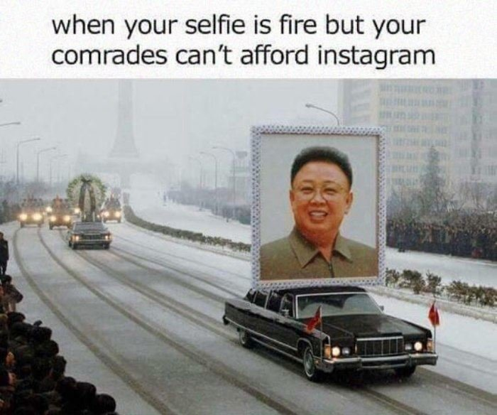 Selfie. dailyhaha.. I bet every car in that motorcade had the check engine light on