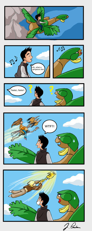 Sense It Does Not Make. This is what happens when you release pikachu who know the move fly.<br /> And they totally did... logic
