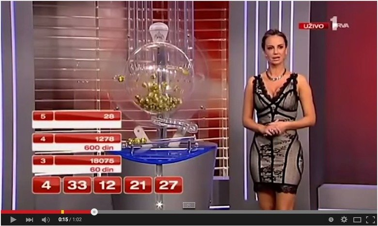 Serbian Lotto gets caught scamming. Serbian lotto gets caught scamming the public on National Television! LOL. IBITE ED din. did they even try? I mean, it was obvious as