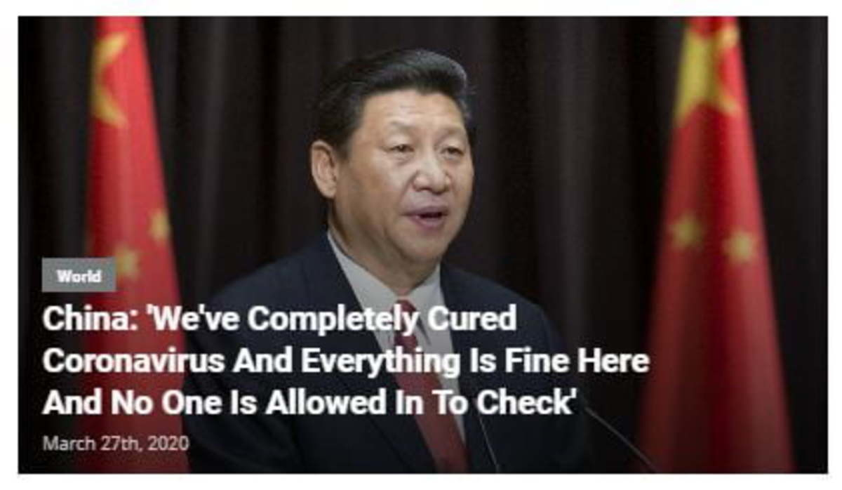 shaker macho Badger. .. https://babylonbee.com/news/china-announces-that-theyve-completely-cured-coronavirus-and-everything-is-fine-there-and-no-one-is-allowed-in-to-check The way this