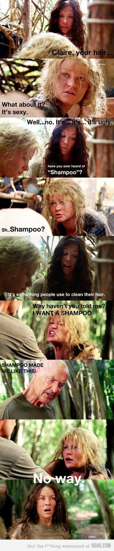 Shampoo. I don't ever want to go bald... lol tags