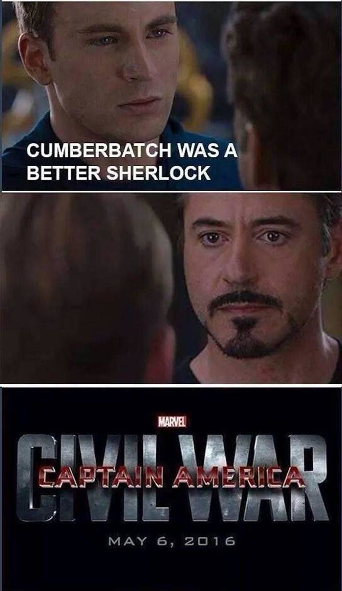 Sherlock. Source: dumapday. CUMBERBATCH WAS A BETTER SHERLOCK