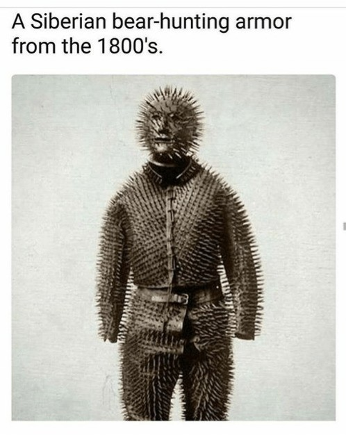 Siberian Bear Hunting Armor. .. me and the boys hunting bears in 1800s siberia