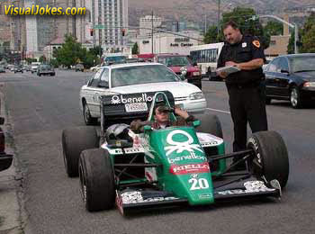 Sir do you know how fast you were going?. .. Lol, definitely not street legal.