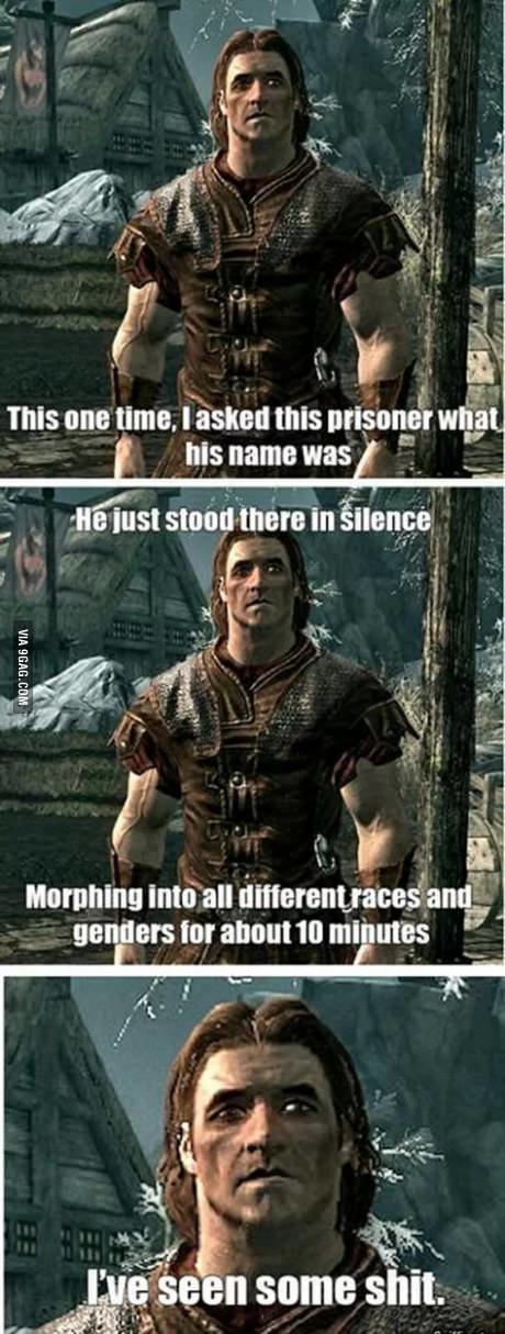 "Skyrim Flashback. . This one lime. halted this veit) his name was . - was was am 1 in I in chl gen I an Int ! s bilall""! i), ftt) ll some shit.. One of the greatest mods of all time"
