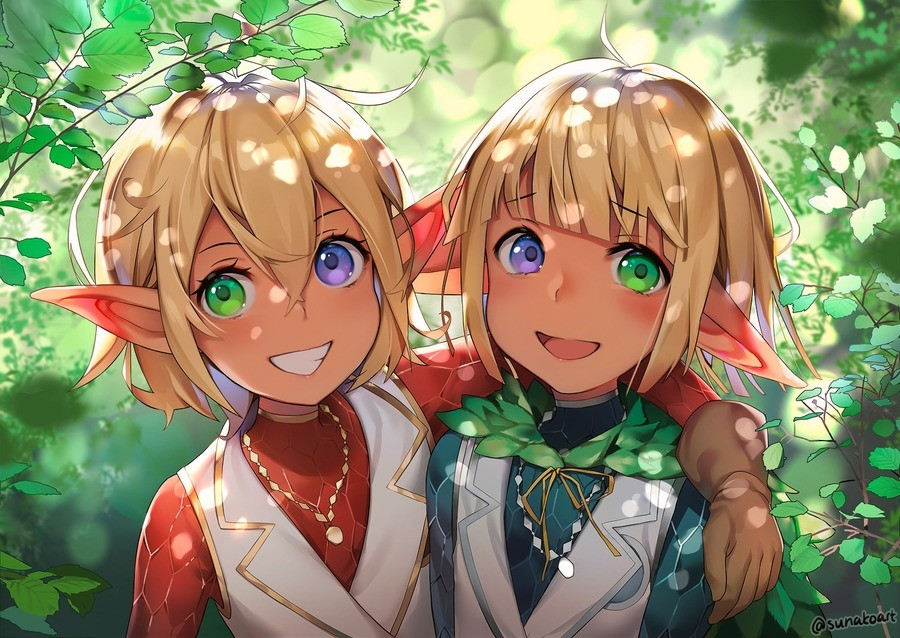 Smol Elves. Source: .. smol elves that would kill you in a blink of a eye if ainz wanted to.