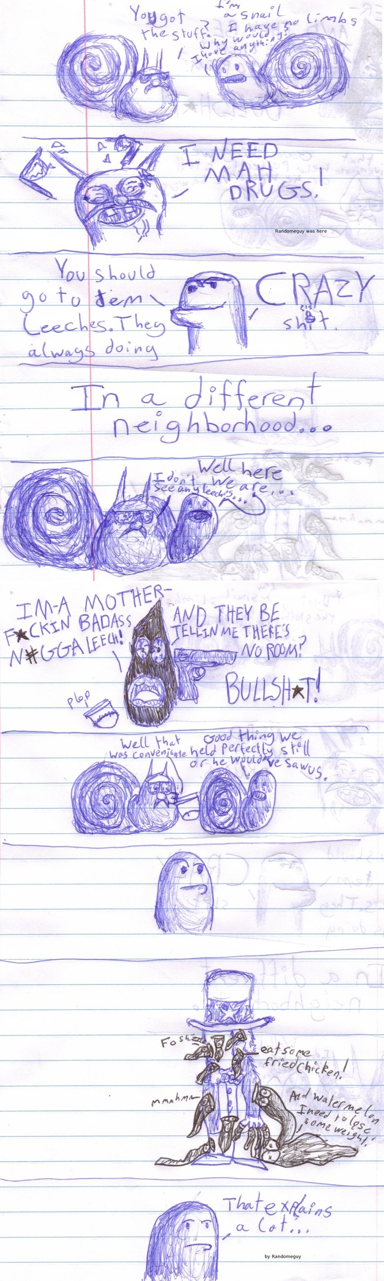 Snail Adventures OC. First OC, made it drawing crappily in class... It was really awkward when I had to it in... If you like thumb... If you don't... well at le