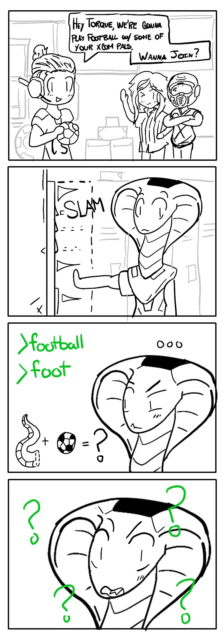 soccer. .. >with some of your XCOM pals So... The people who murdered her original ADVENT squad?