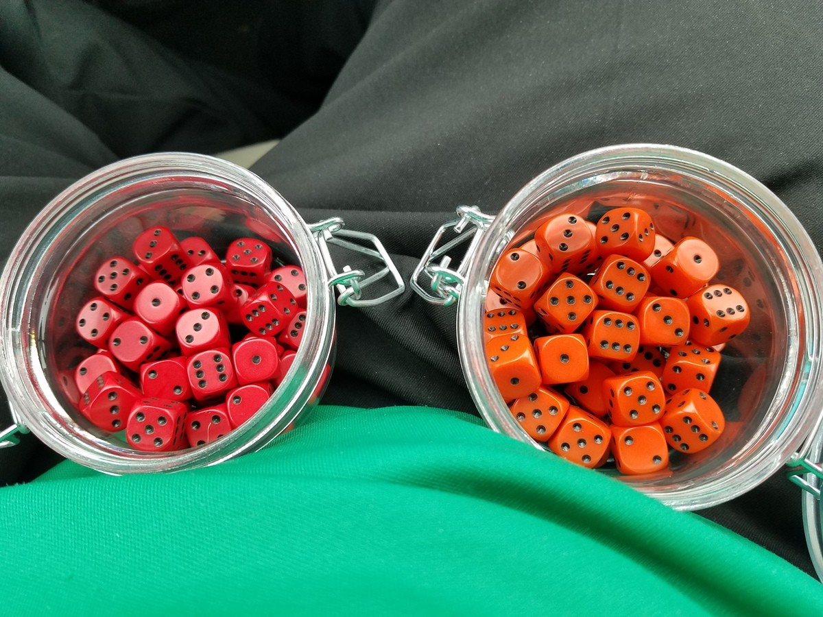Some actual reds.. Someone mentioned earlier that the dice I had bought weren't actually read but orange and after realizing my mistake I went back and emptied