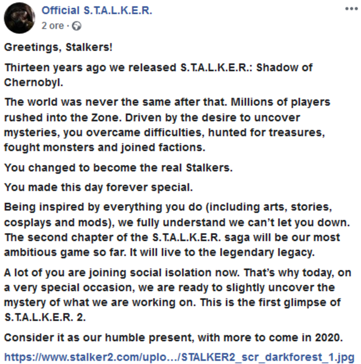 Something to follow. New list for Stalker related posts from now. join list: StalkerPosting (97 subs)Mention History.. Now this is good news