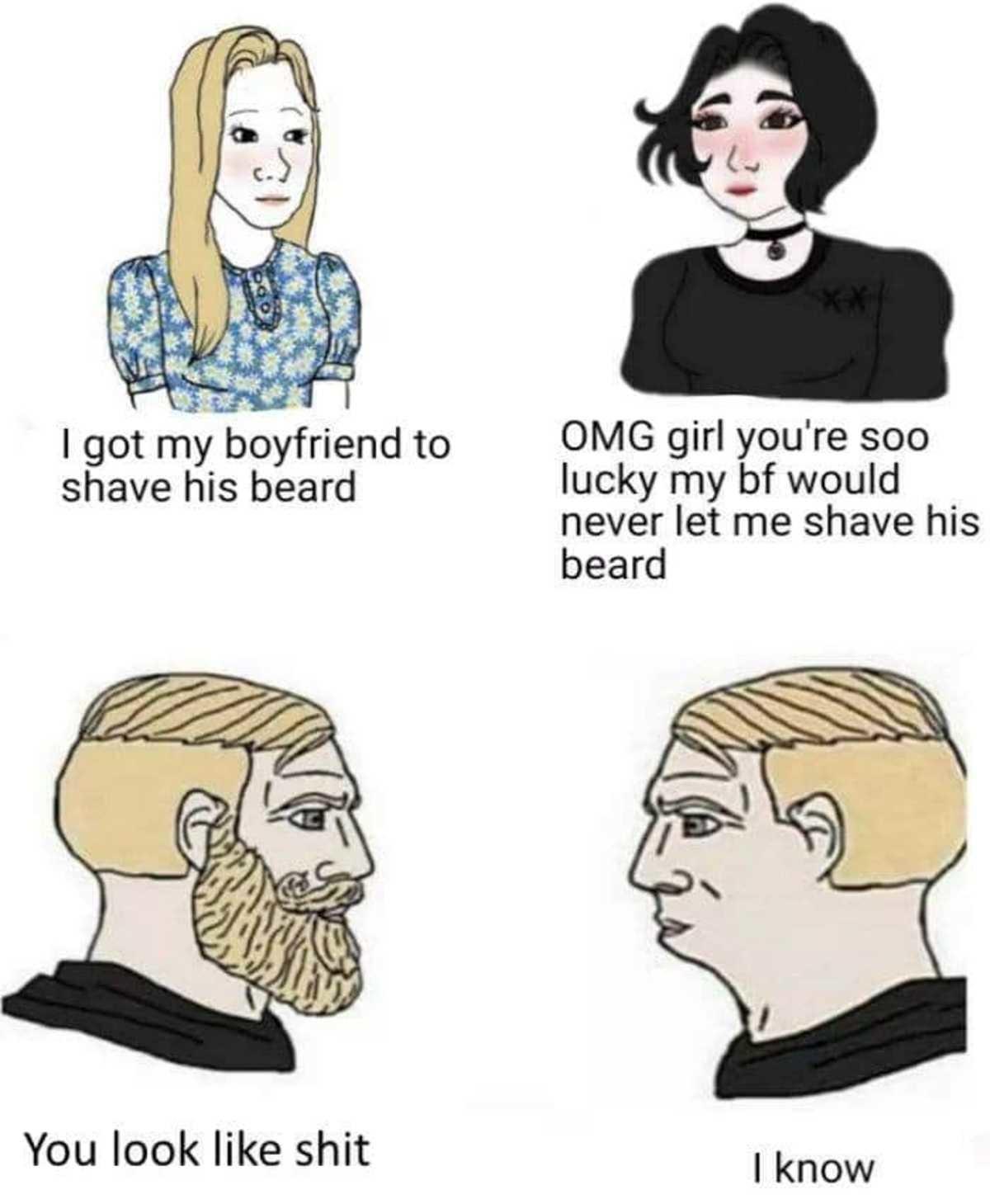 speedy devilish Brethren Sheep. .. I dont like having a beard my face itches