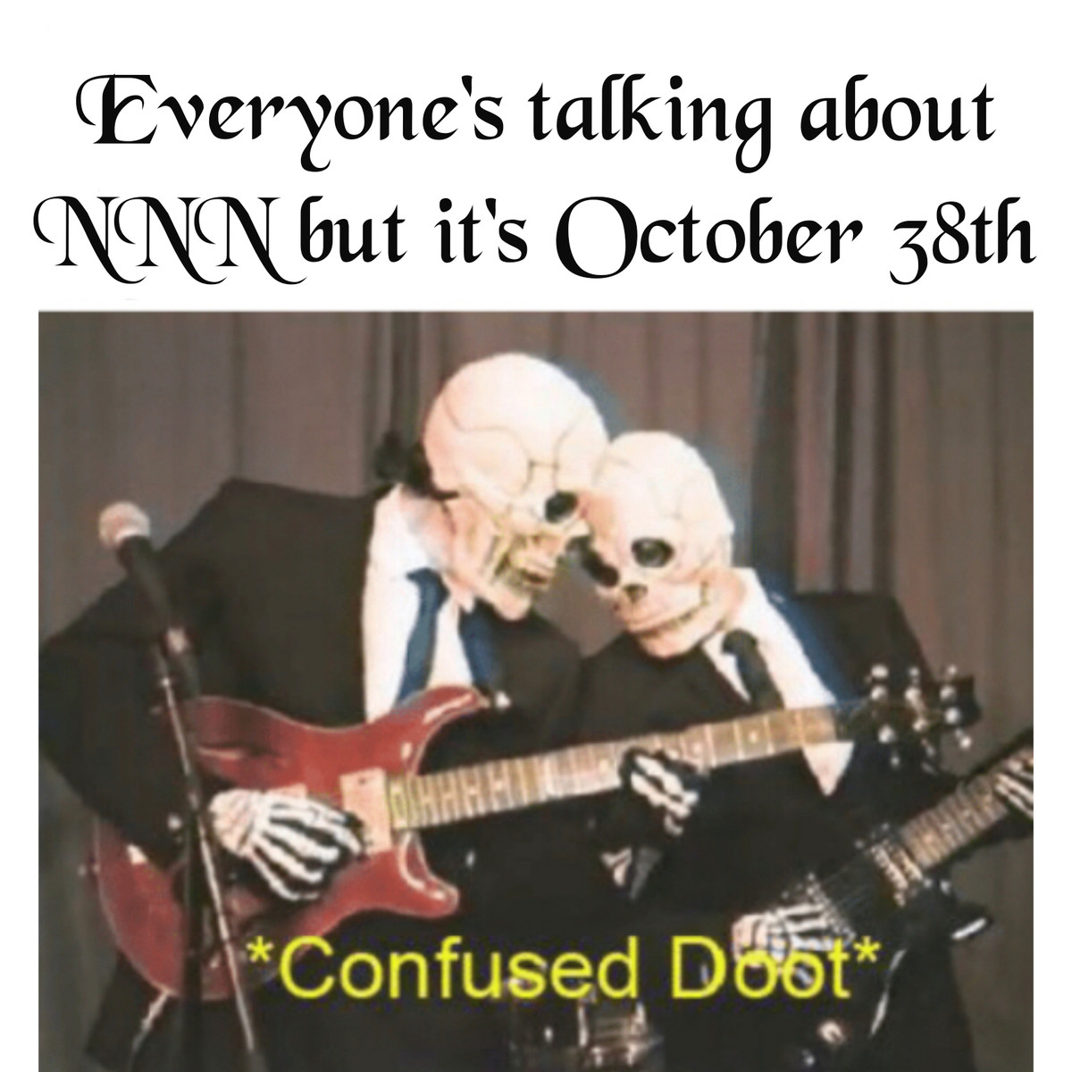 Spooktober. .. Spooktover isn't over till the spooky gang says it is