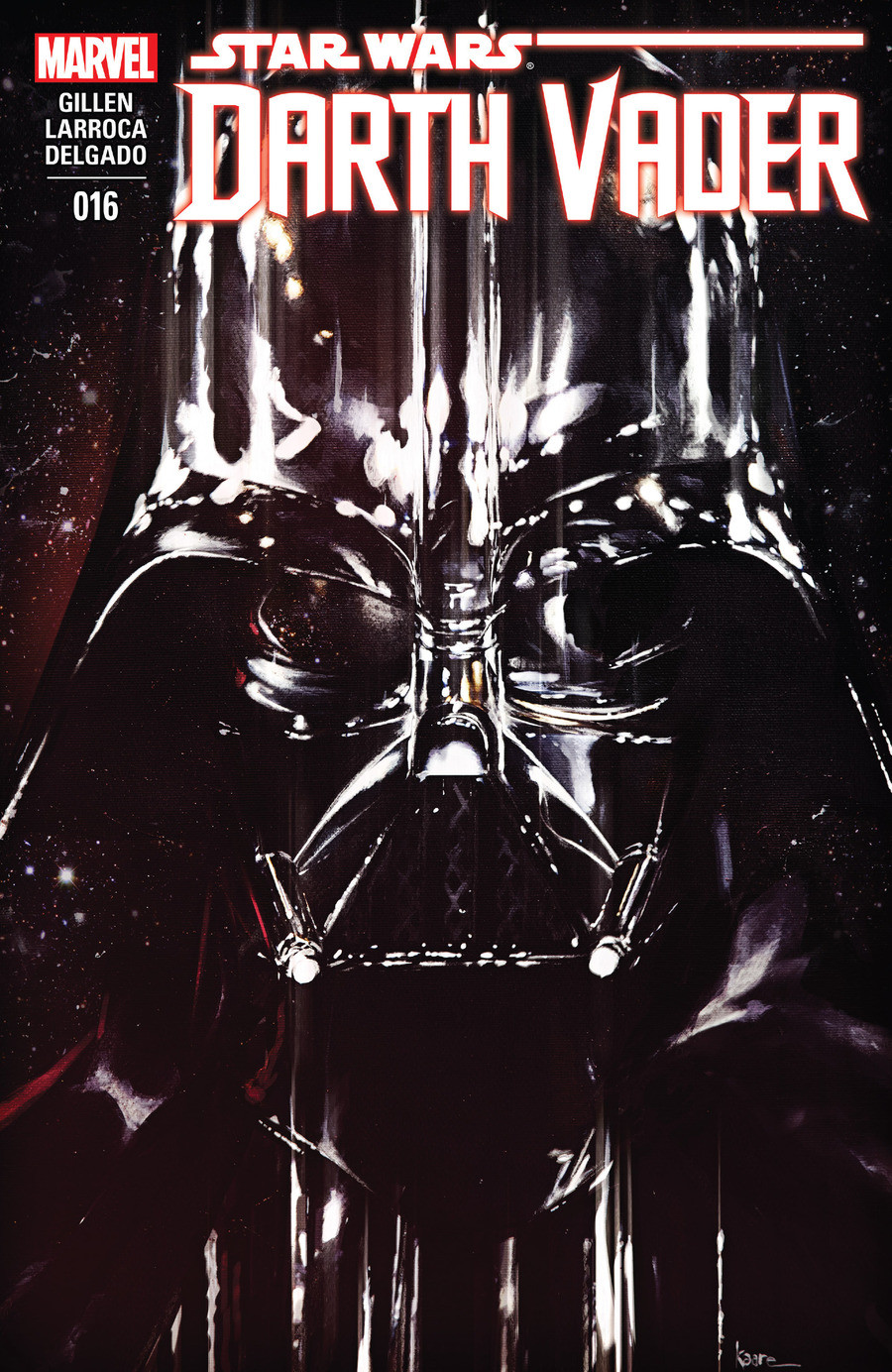 Star Wars Darth Vader issue 16. The start of a new arc. Click the links for the first 3 issues of this comic, and the mentions list mention history for the rest
