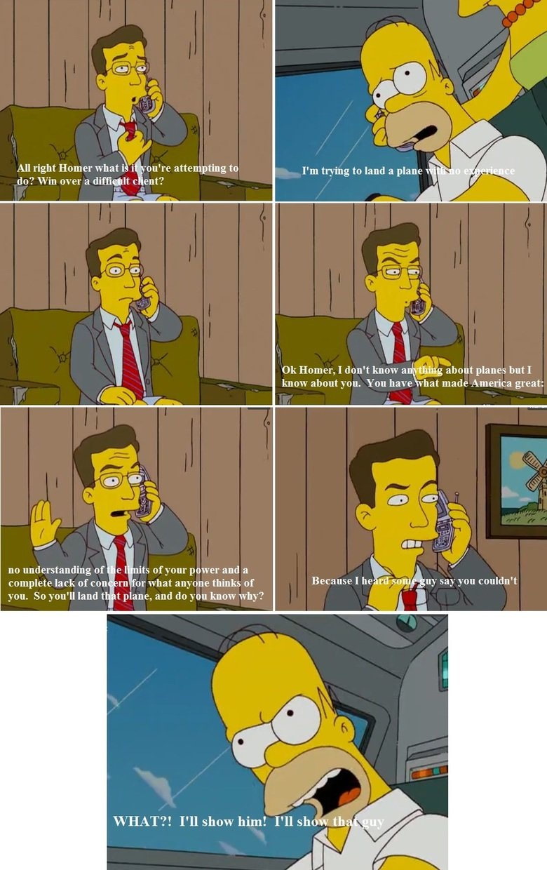 """Stephen Colbert's wise words to Homer. . All right Homer abat\ """" %'on' re attempting to Homer, I don' t know a . _ ii. about planes bat I know about you. You ha"""
