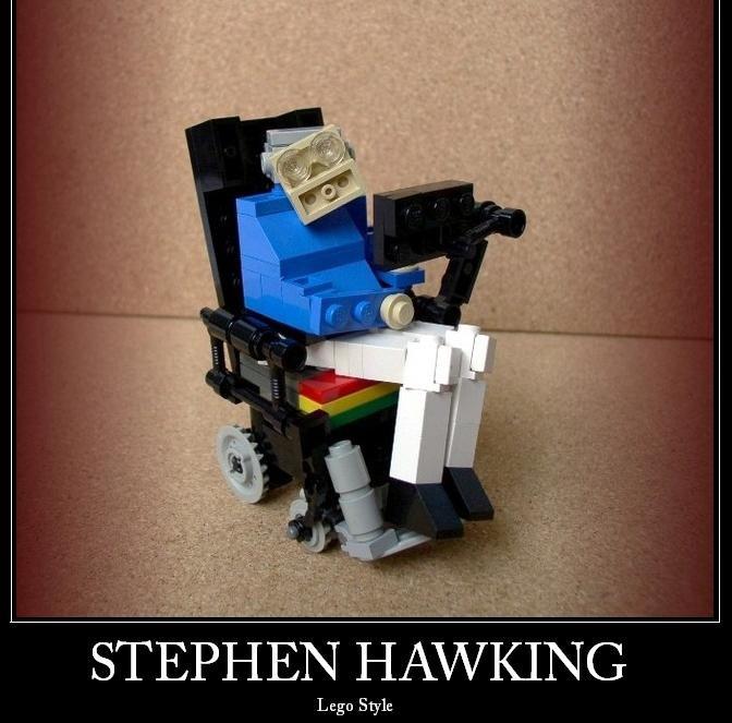 Stephen Hawkin. Stephen Hawking as a lego. Lego Style. haha nicce irishninja