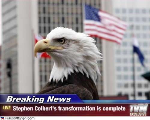 Stephen colbert. has transformed.