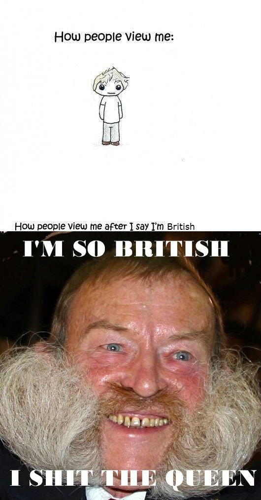 """stereotypes. Part oc. the original: . HOW DERPIE New me: Hutu people view [ii' c"""" i' am; -r I my rm British 5 it"""