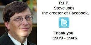 Steve Jobs. . RIP. Steve June: The creator or Facebookk. Thank you 1939 _