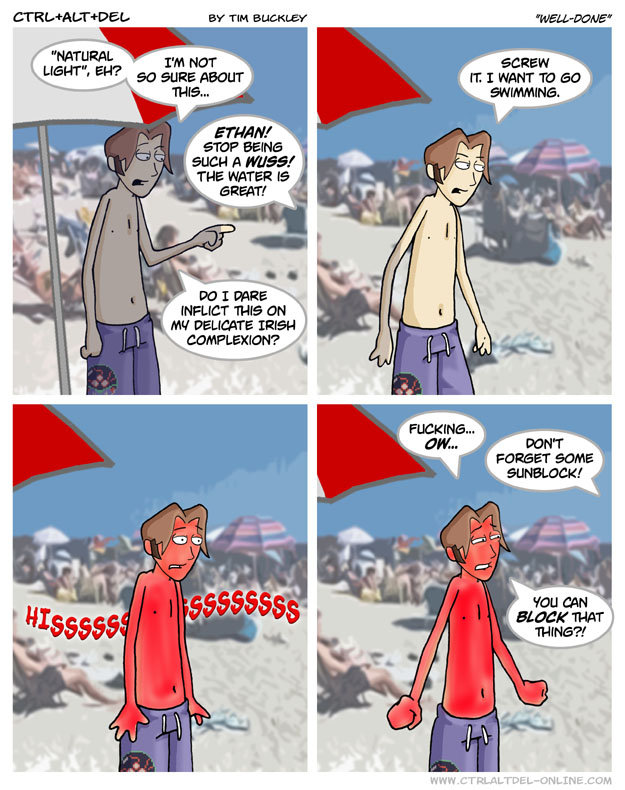 """sunburn. funny thing is this actually happened to me literally yesterday<br /> <a href=""""pictures/636490/pron/"""" target=blank>funnyjunk.com/"""