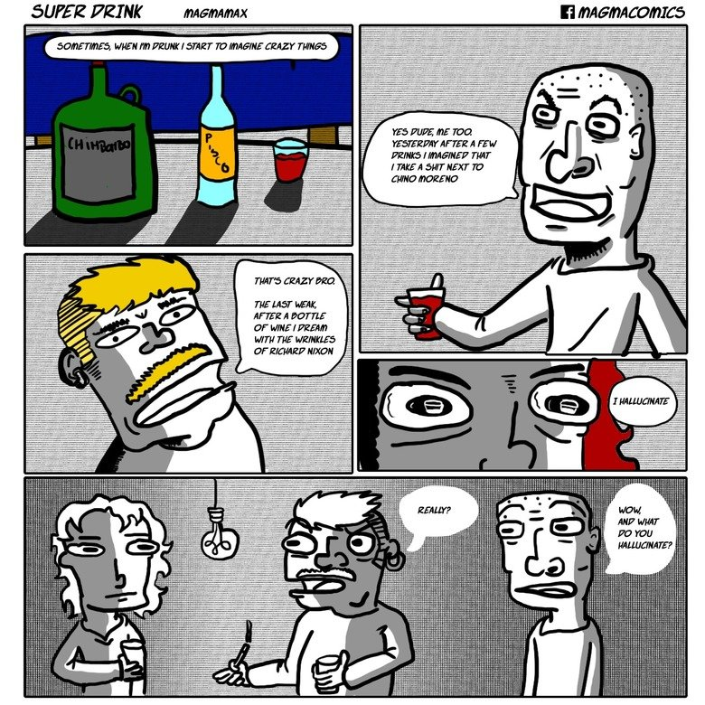 """Super Drink. Comic translated from the original in spanish sorry for any translation mistake. A WW THEE E is THE HIST HEAR', AFTER El vvk'% ' SF WWW I FEE""""! THE"""