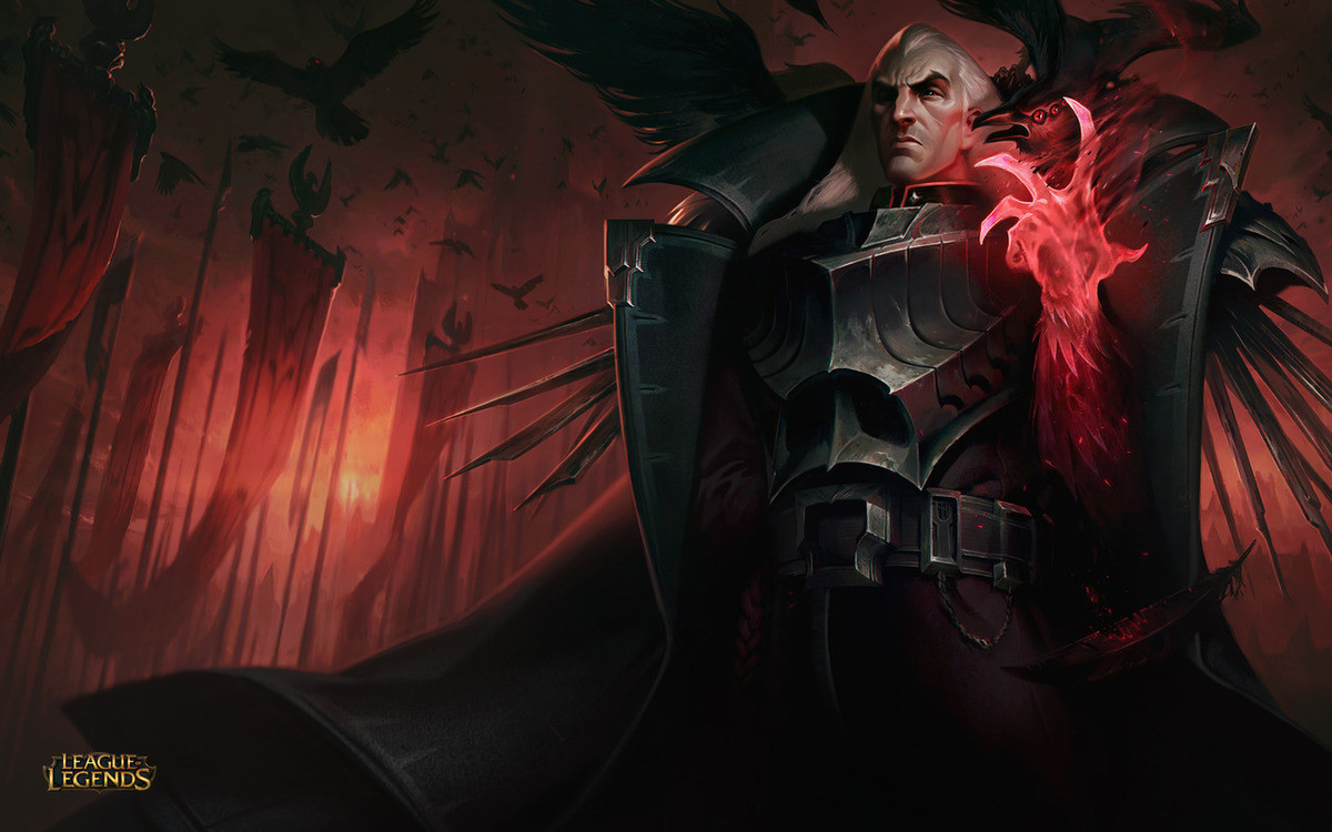 Swain's new splasharts.... I'll admit, I was skeptic when I first saw the new Swain, but after hearing his voicelines and getting the feel of his personality, I