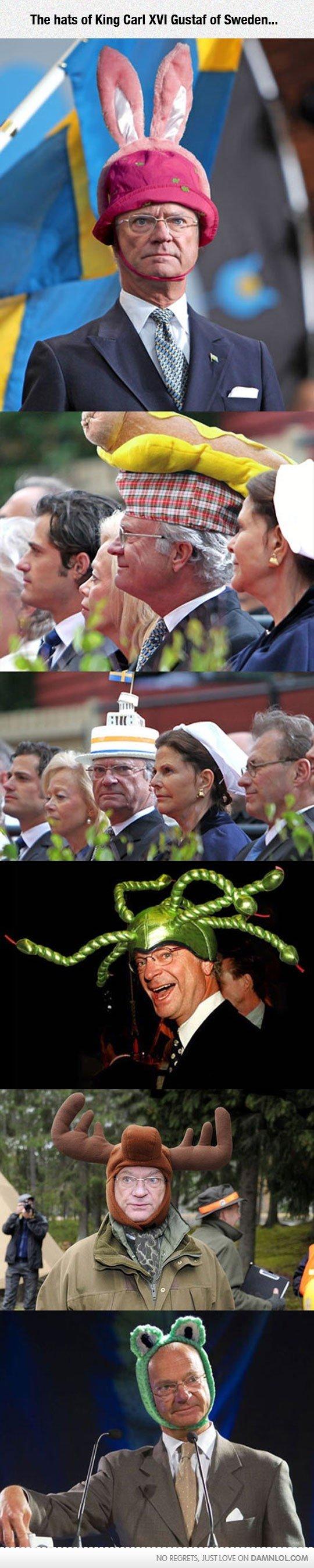swetard. . The hats of King Earl XVI Gustaf {If Sweden...
