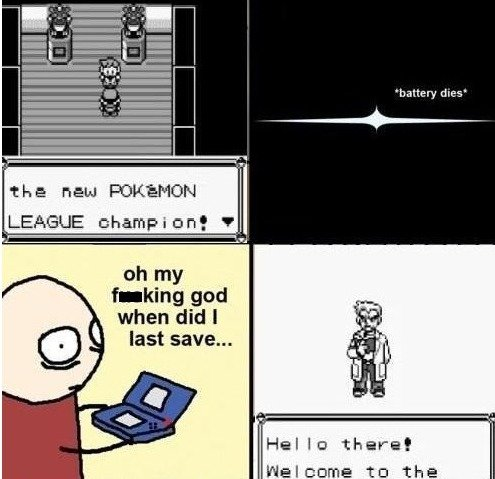 """T. D. battery dies"""" the new PUKEMON LEAGUE champing! o Velcome tn the"""