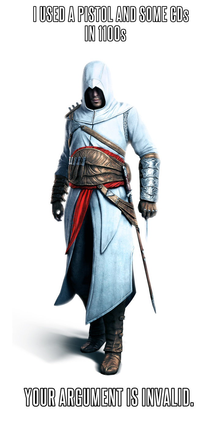 t. .. Altair didn't use a pistol, get it right.