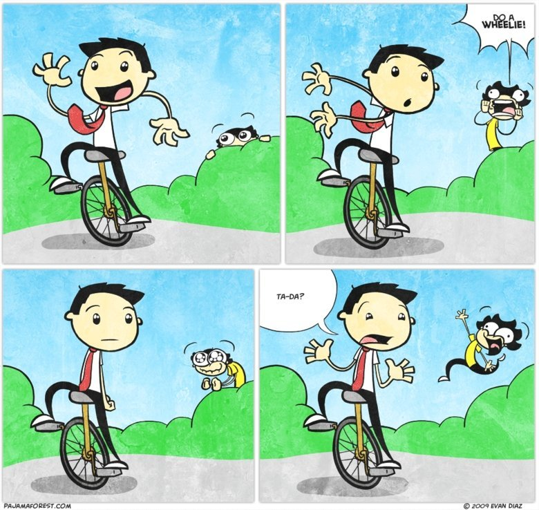 TA DA. TA DA!.. This is an old repost. However, I did not thumb down because I love this comic. PS: I favorited.
