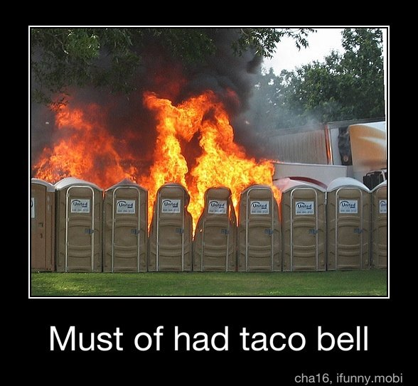 taco bell. not mine sorry if repost. Must of had taco bell. Must of? Are you kidding me?