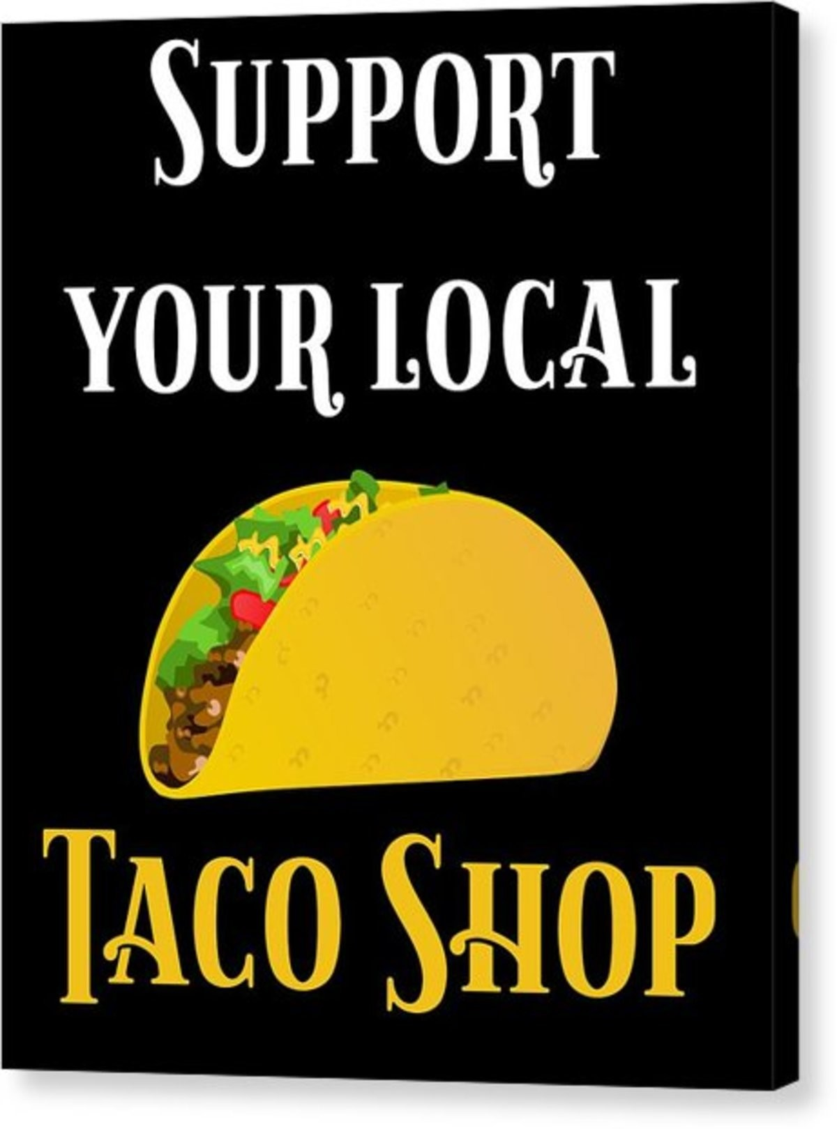 Taco Shop. .. What about burrito shops, racist