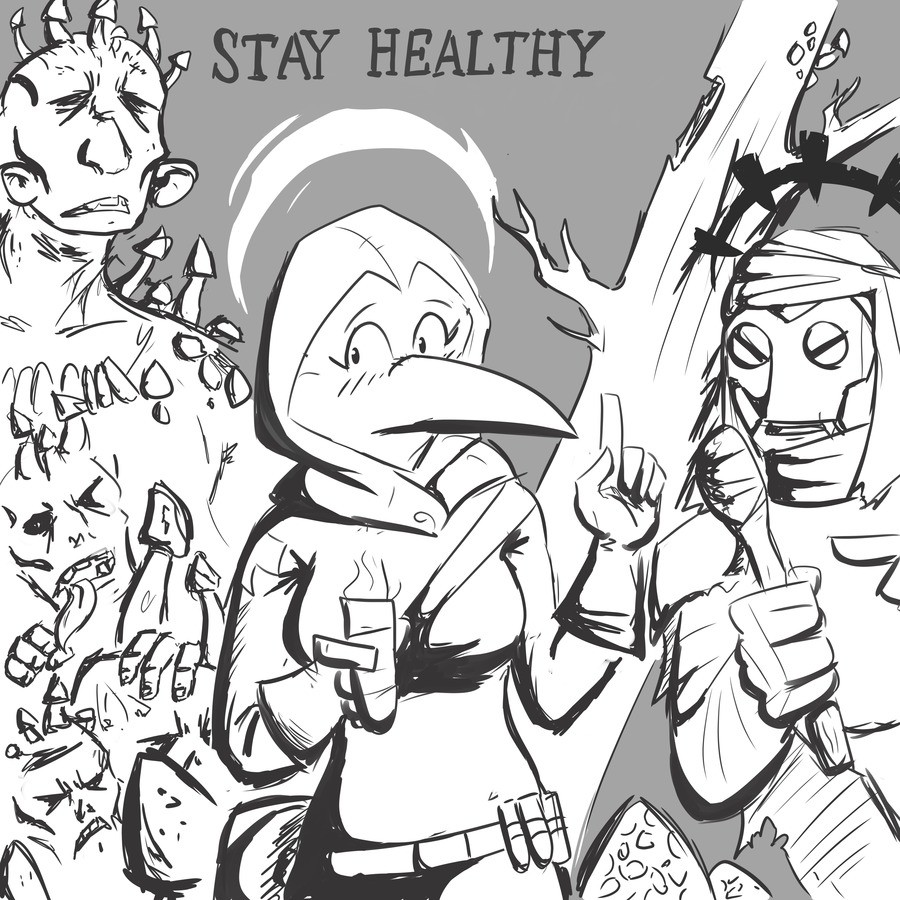 Take care of yourself. join list: ZaurDraws (137 subs)Mention History It's me again, trying to push myself and draw. Got smth for ya. P.S. the pigs..